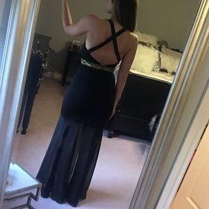 Express Black Maxi Dress Cut-Out Back Size 4
